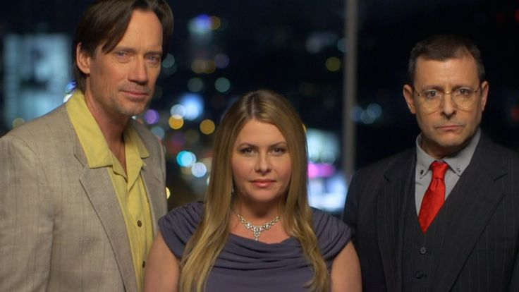 Kevin Sorbo, Nicole Eggert and Judd Nelson in HEARTBREAKERS ep. 'Tainted Love'.
