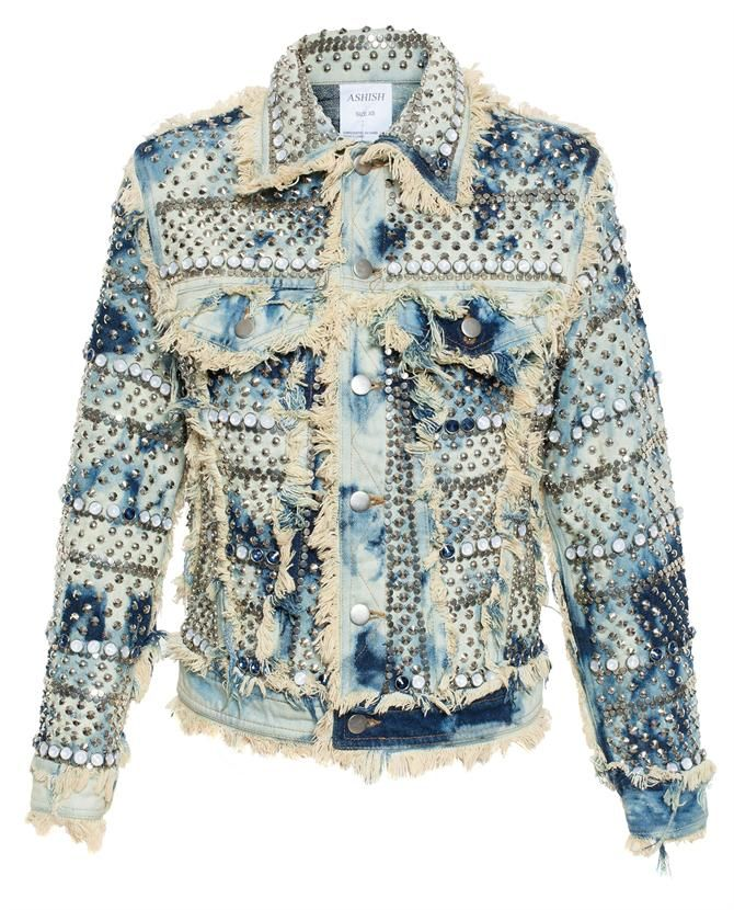 ASHISH | Studded Denim Jacket | brownsfashion.com | The Finest Edit of Luxury Fashion | Clothes, Shoes, Bags and Accessories for Men & Women