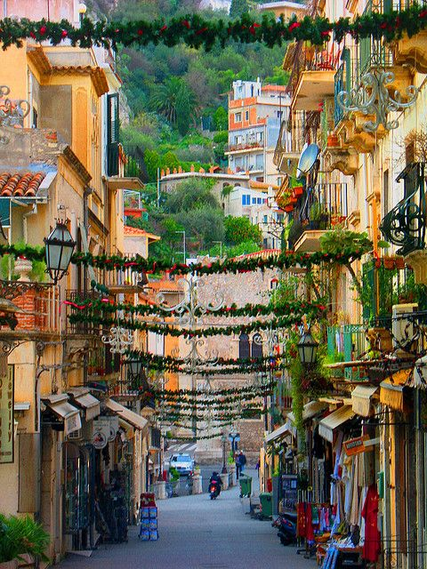 Taormina, Sicily, Italy. Our tips for 25 places to visit in Italy: http://www.europealacarte.co.uk/blog/2012/01/12/what-to-do-in-italy/: