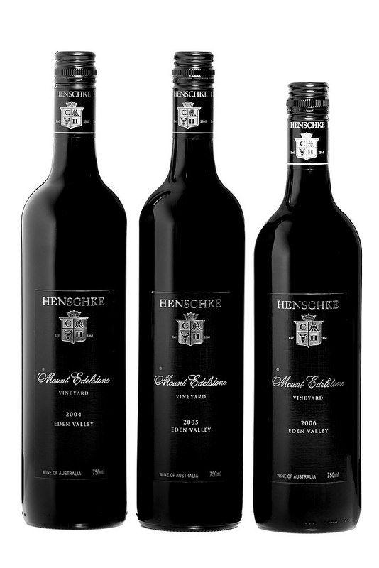 Barossa Wine Chapters Auction 2015: Live Auction Lots  Lot 13L Henschke  Mount Edelstone Shiraz. Three bottle mixed set. One bottle each of the following vintages: 2004, 2005, 2006, 750mL Bottle