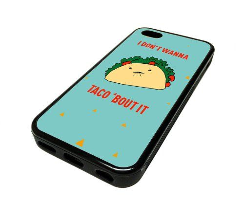 For Apple iPhone 5C 5 C Case Cover Skin Cute Taco Blue Funny DESIGN BLACK RUBBER SILICONE Teen Gift Vintage Hipster Fashion Design Art Print Cell Phone Accessories MonoThings,http://www.amazon.com/dp/B00JELWJMI/ref=cm_sw_r_pi_dp_fUZotb11ZFZXSQWW
