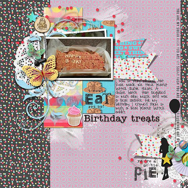 I used Sweet Thing kit , hearts Aflutter Templates and Gesso Goodness v1 by The Nifty Pixel.