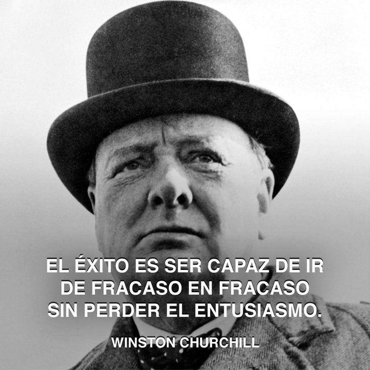« El éxito es ser capaz de ir de fracaso en fracaso sin perder el entusiasmo. » Winston Churchill #winston #triunfo #churchill http://www.pandabuzz.com/es/cita-del-dia/winston-churchill-éxito-entusiasmo