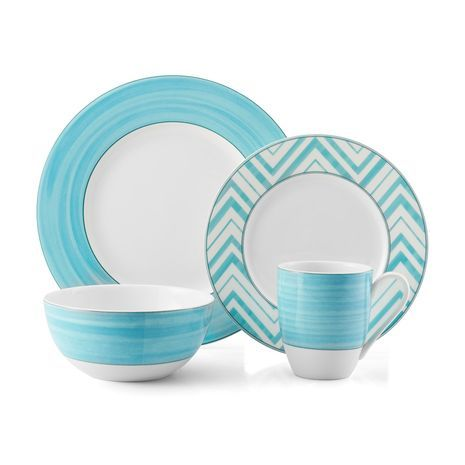 Cadence Teal 4 Piece Place Setting