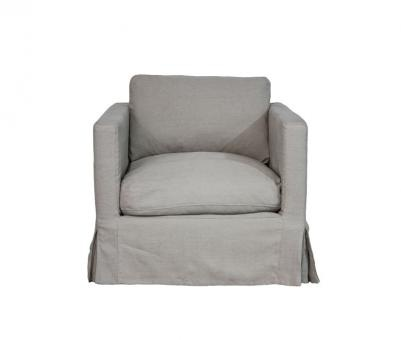 Pauline Lounge Chair Linen. A Block and Chisel Product.