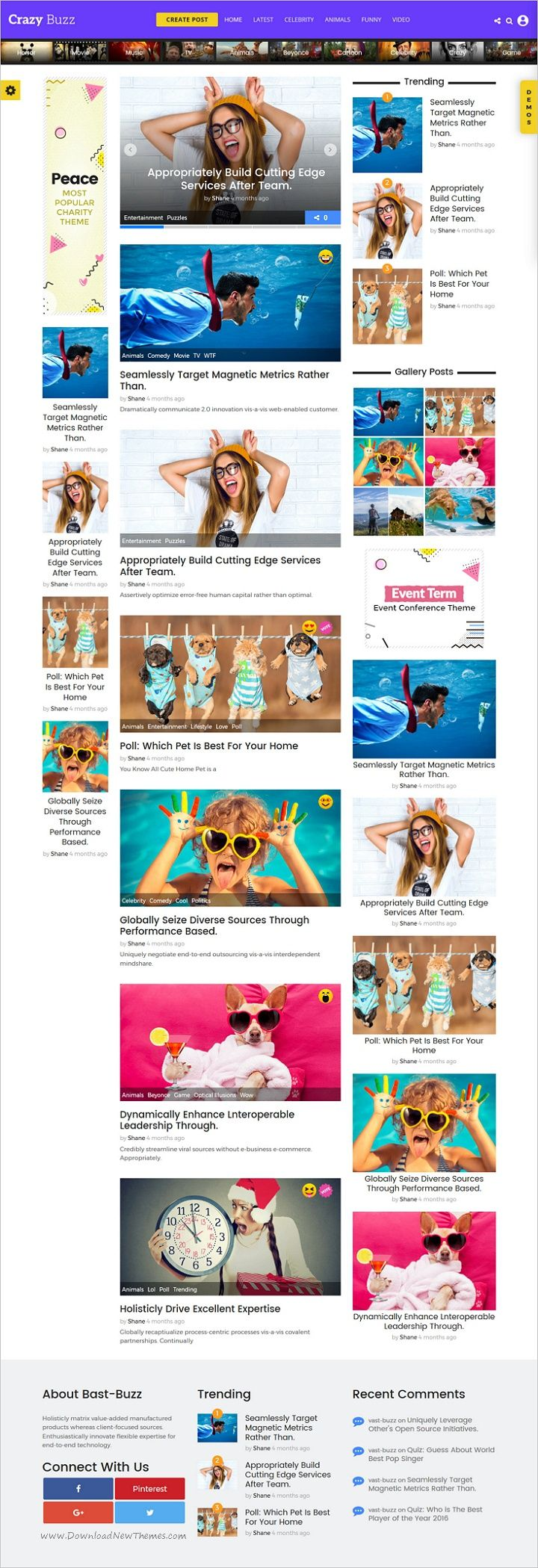 Vast buzz is unique, modern and flat design #WordPress theme for viral #news and #magazine websites with 9 homepage layouts to create list, meme, quiz, pool, video, audio, gallery news easily download now➩  https://themeforest.net/item/vast-buzz-viral-buzz-wordpress-theme/19287621?ref=Datasata