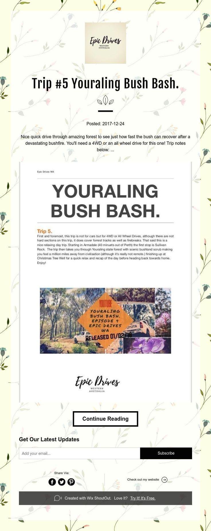 Trip #5 Youraling Bush Bash.