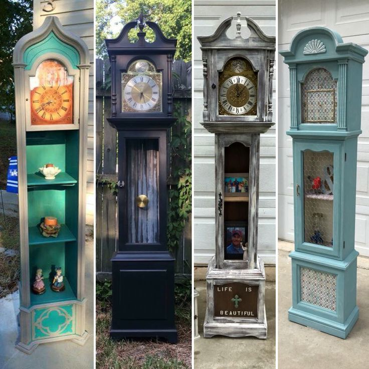 Grandmother & Grandfather clocks are one of favorite pieces to refinish and repurpose. Each is unique and up cycled to be one of a kind