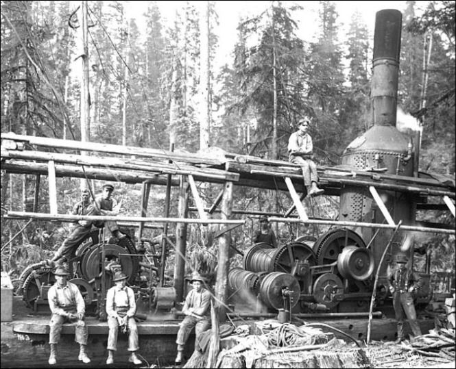 Steam Donkey Engines used for logging redwoods on the ... |Steam Donkey Engine Plans
