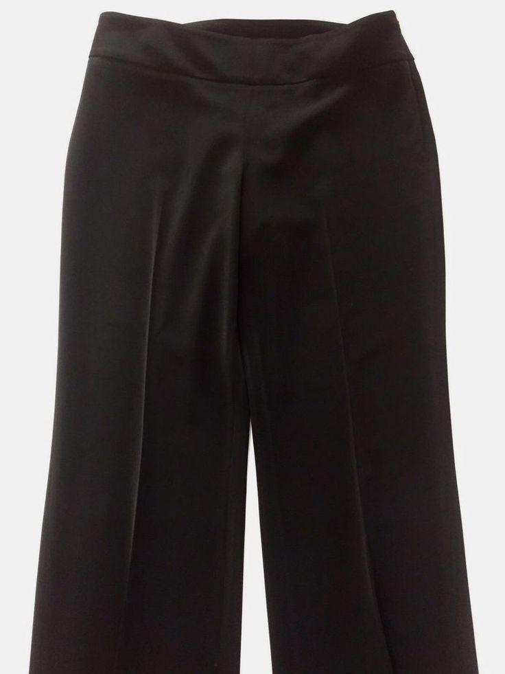 8 Reg White House Black Market Legacy Pants Black Dress Slacks Career Work Wear #WhiteHouseBlackMarket #DressPants