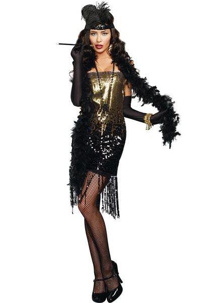 DG9455 Dreamgirl Dazzle Me Flapper Fancy Dress Costume