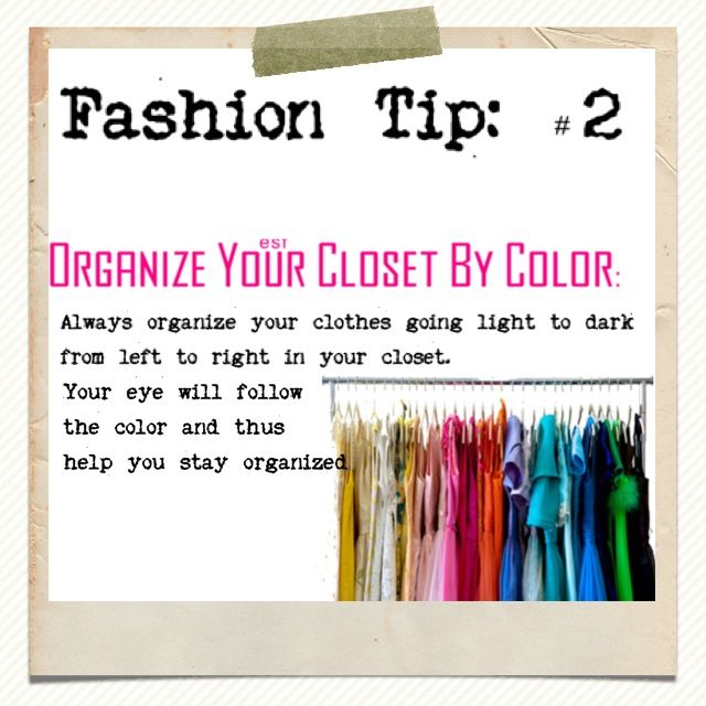 Fashion tip color coordinate your closet organization for How to color organize your closet
