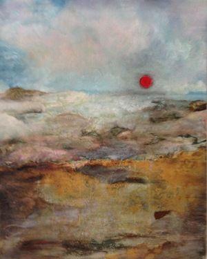 "Saatchi Online Artist Patricia Chaparro; Painting, ""RED SUN"" #art"
