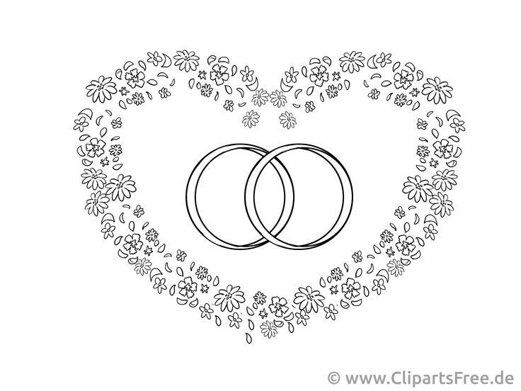 Malvorlagen Eheringe Clipart Hochzeit zeichnung Zeichnung