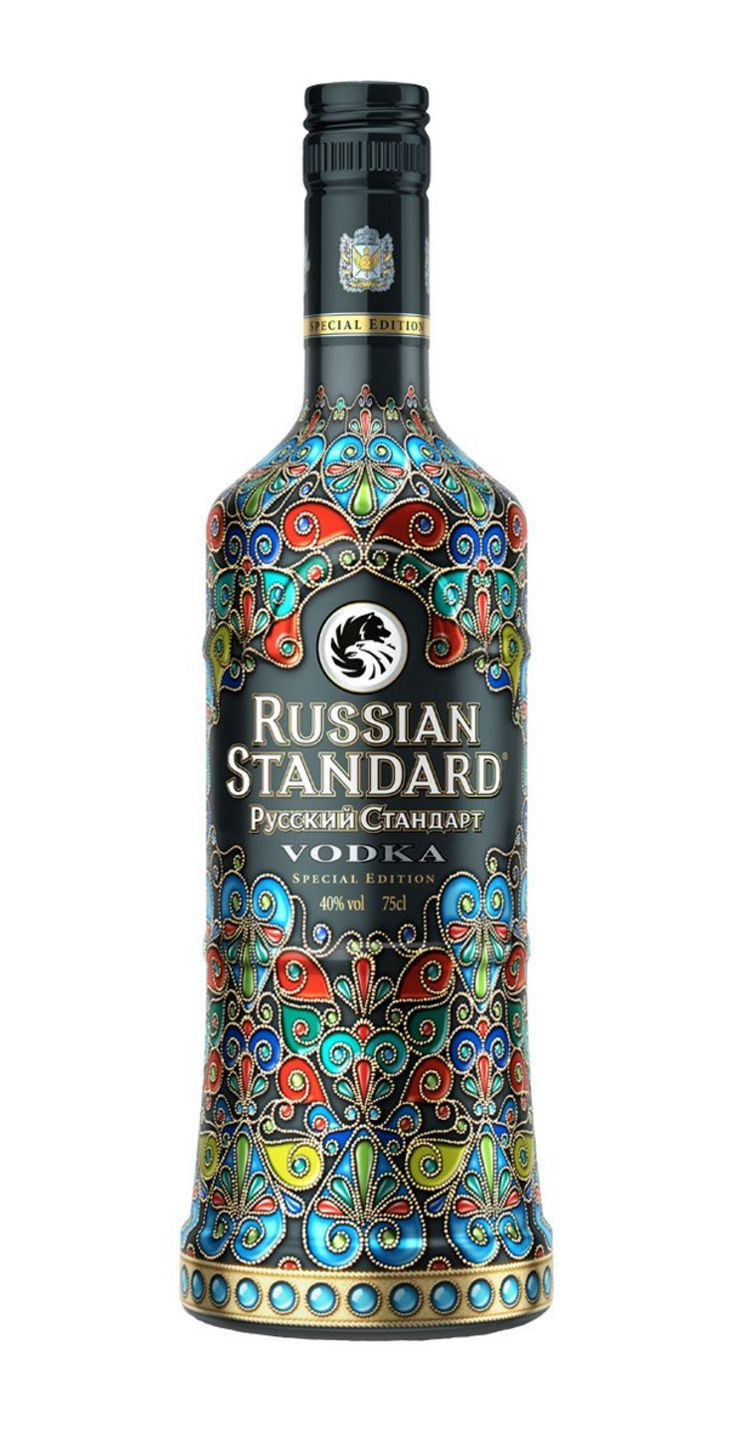 Beautiful limited edition Cloisonné bottle of  Russian Standard Vodka