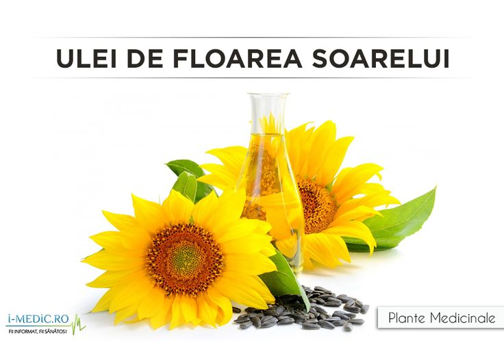 Uleiul de floarea soarelui este folosit in alimentatie ca sursa de grasimi nesaturate, pentru a inlocui grasimile saturate - http://www.i-medic.ro/plante/ulei-de-floarea-soarelui