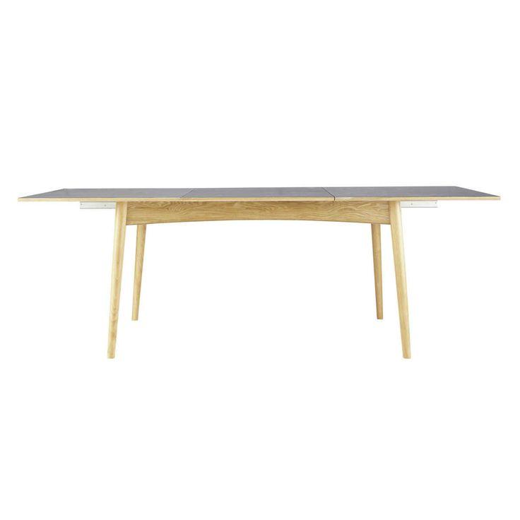 Table de salle à manger à rallonges en bois anthracite L 150 cm Boop