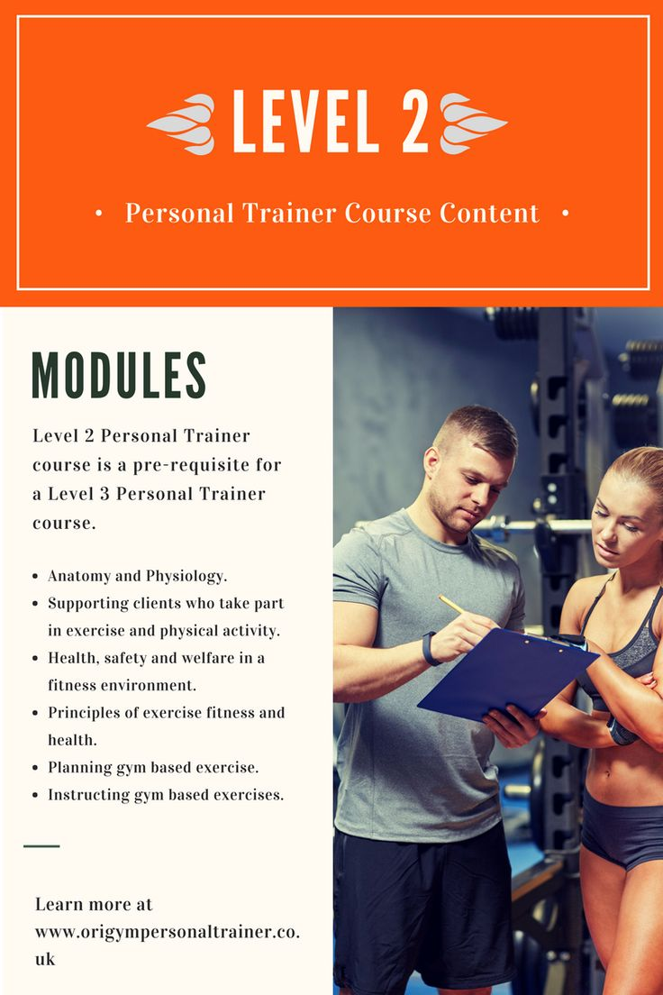 Level 2 Personal Trainer qualification content.