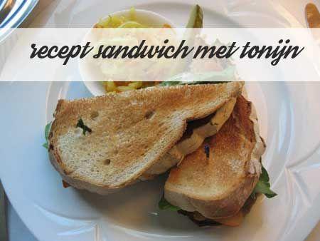 Recept sandwich met tonijn