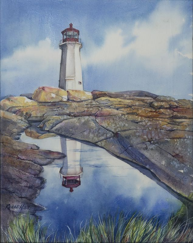 Peggys Cove Watercolor Painting By Renae Hill
