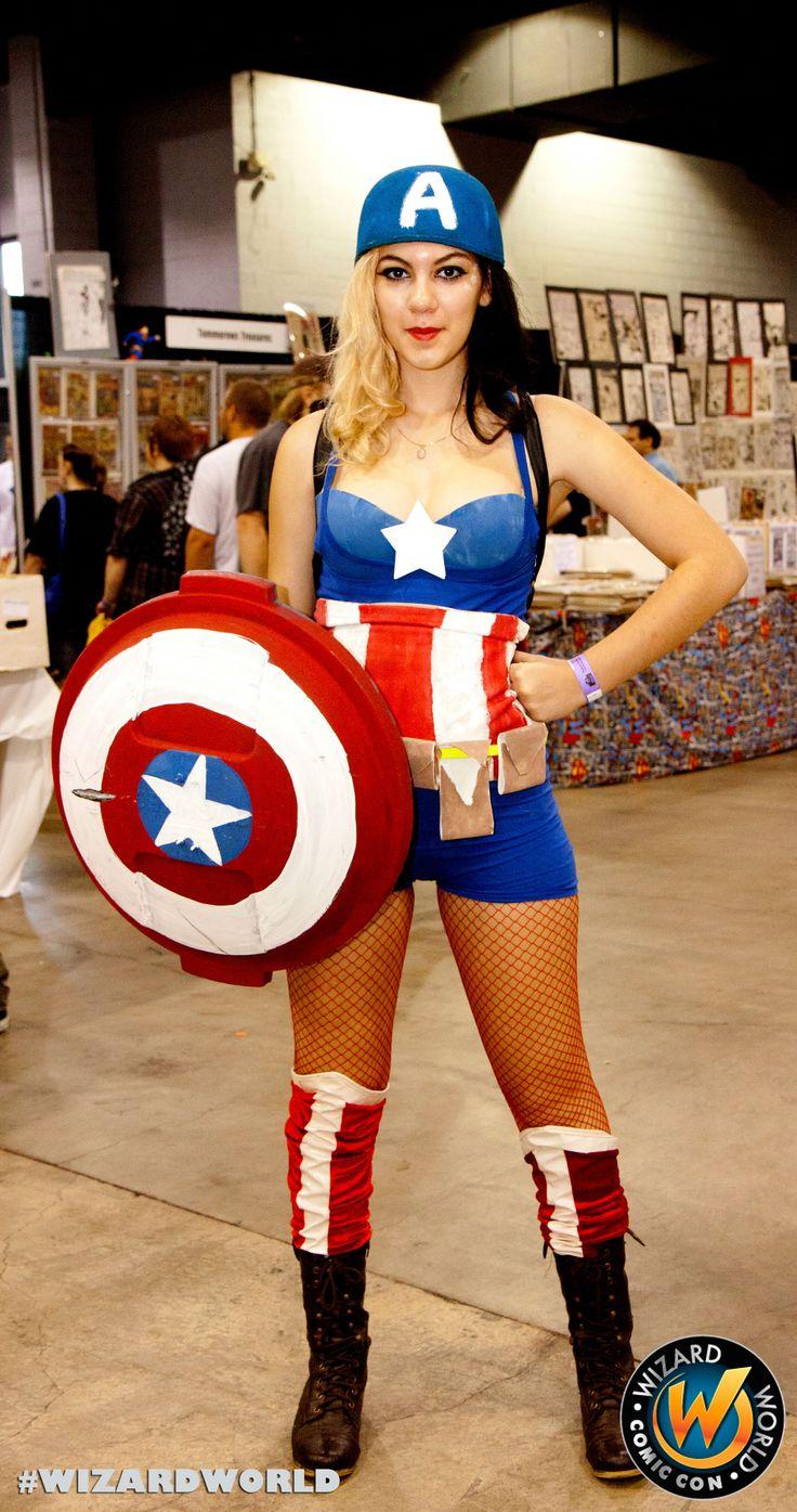 Creavite shield for the women Caption America, check out Wizard World Ohio Comic Con Sep 20-22, 2013!! Click http://www.wizardworld.com/home-ohio.html