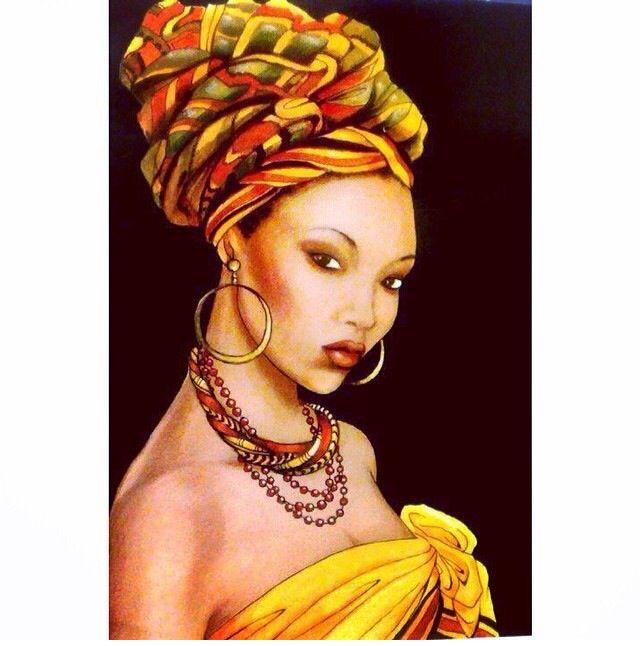 Beauty Black Art In 2019 Hair Art Art African Art