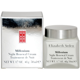 @Overstock.com - This rich-textured night cream replaces daily moisture loss during sleep. The cream smoothes the look of fine lines.http://www.overstock.com/Health-Beauty/Elizabeth-Arden-Millenium-Night-1.7-ounce-Renewal-Cream/7519266/product.html?CID=214117 $40.99
