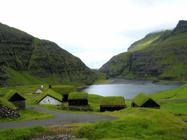 Saksun, Faroe Islands - grass covered roofs!