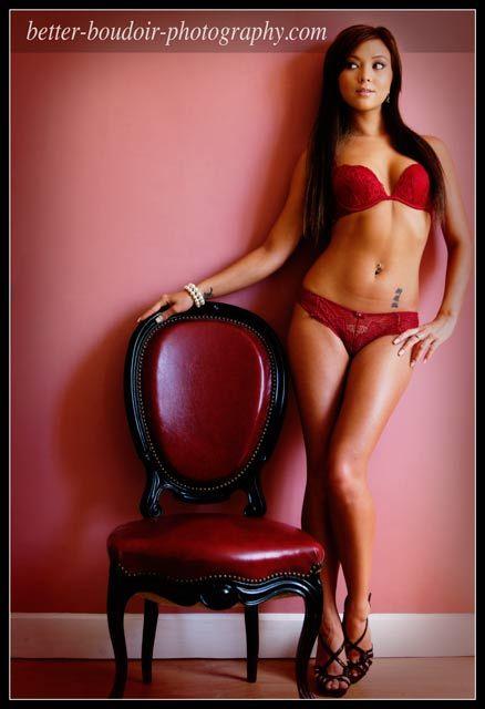Sexy boudoir poses chair