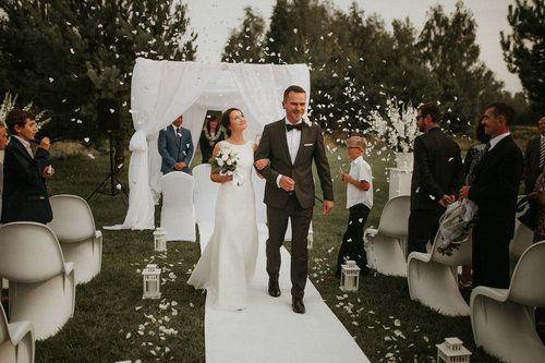 Destination wedding photographers / Emilia and Valentin Wedding photography Warsaw Wedding outdoor ceremony