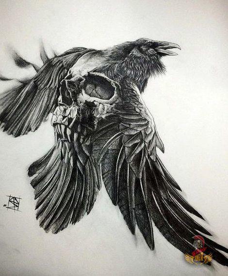 23 Raven Tattoo Designs Ideas: Raven Tattoo, Viking