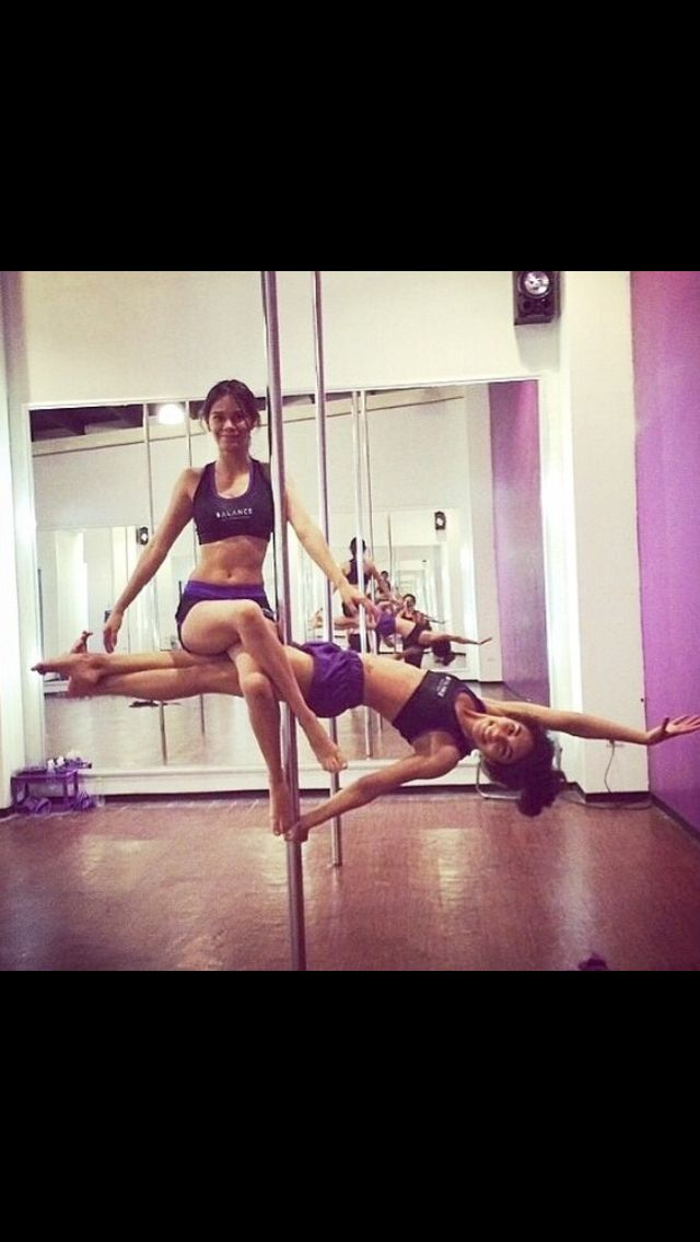 Plank and sit pole doubles counterbalance