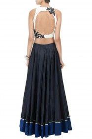 Diy for mehendi - back - long blouse and skirt