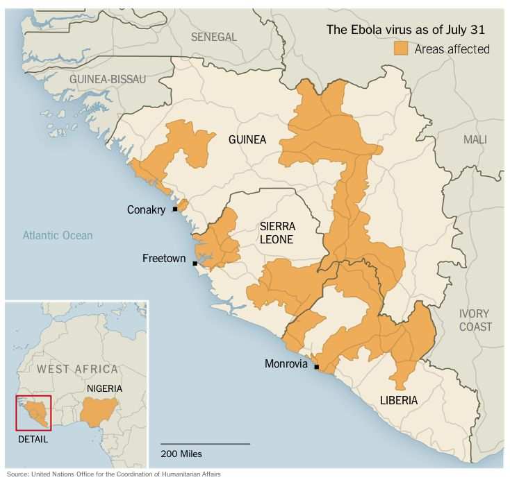 5 Infographics that explain the Ebola outbreak