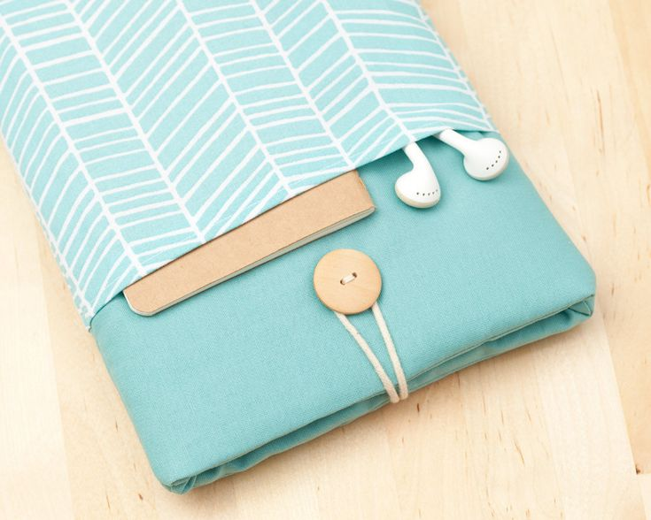 ipad mini sleeve / ipad mini case / ipad mini cover - sea lines with pockets -. $24,50, via Etsy.