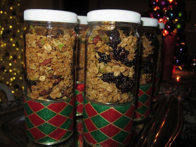 Healthy Holiday Granola {Perfect For Anytime Of The Year!} A recipe to make for snacks, breakfast or a gift...