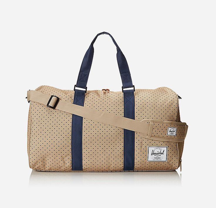 The Novel Duffle is one of Herschel's most popular silhouettes. It features a signature shoe compartment for easy and organized travel while keeping to Herschel's supply's classic styling. Waterproof zipper, removable padded shoulder strap, internal mesh pocket. http://www.zocko.com/z/JGjEX