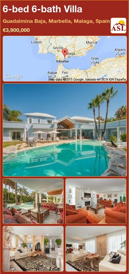 6-bed 6-bath Villa in Guadalmina Baja, Marbella, Malaga, Spain ►€3,900,000 #PropertyForSaleInSpain