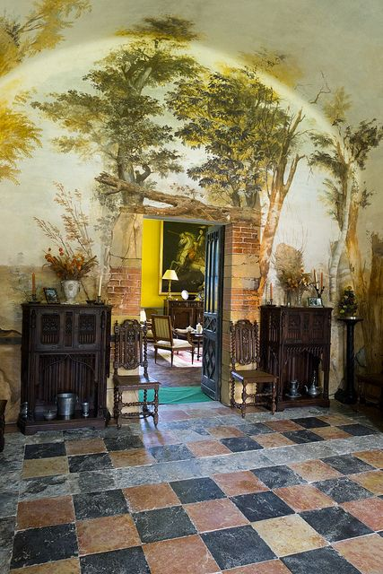 Dining room, Château de Vallin ( XIVC XVIIIC), St-Victor-de-Cessieu, Isère, France