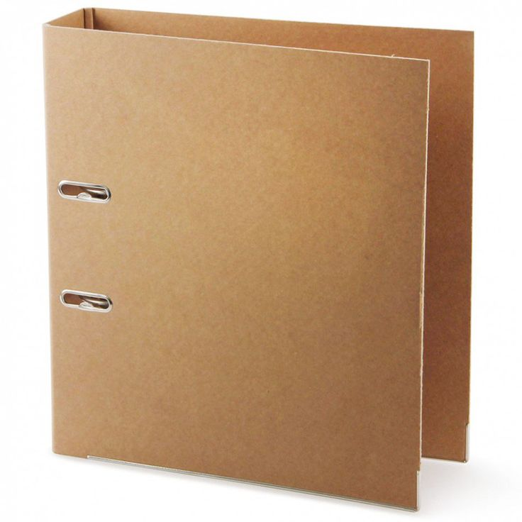 Kraft recycled A4 lever arch file