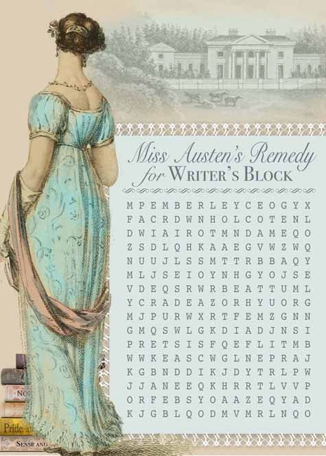 Jane Austen word search party activity.  It would be lovely to host a party such as this...