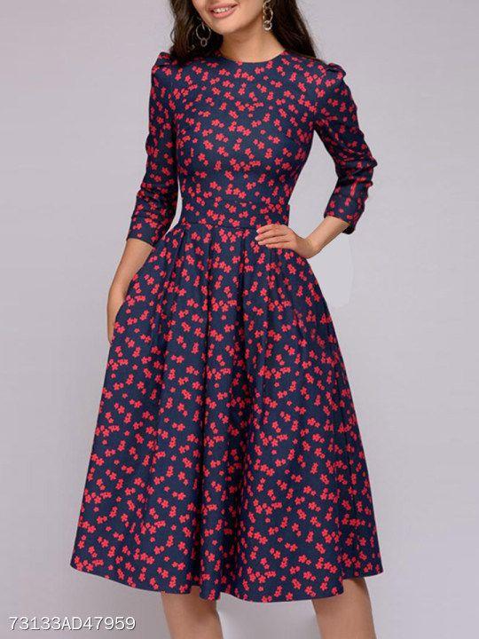 122f0546221 Polo Collar Floral Printed Skater Dress  dresses  skaterdress  floraldress   afflink  fashion  springstyle fashion  springfashion