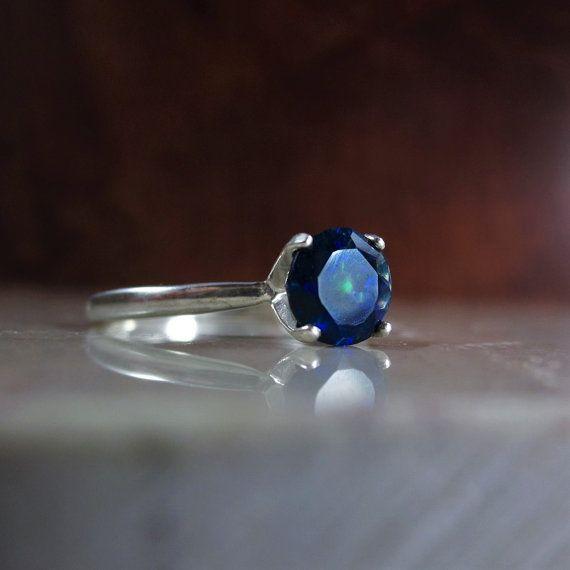Anillo del ópalo ópalo de fuego negro anillo anillo del por Bihls
