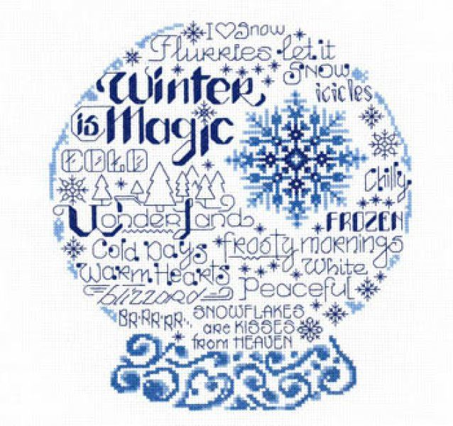 Let's Be Frozen is the title of this cross stitch pattern from Imaginating.