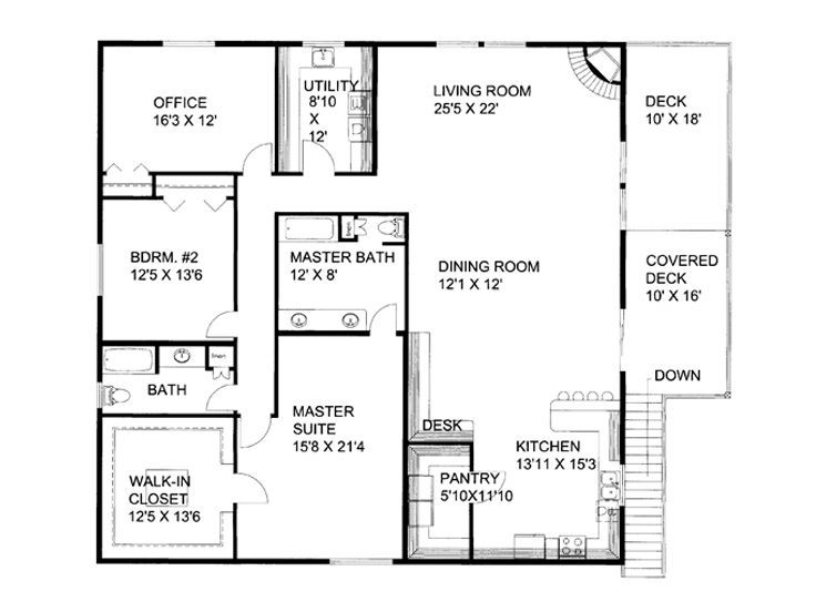 awesome garage home floor plans #6: Second Floor Plan of Garage Plan 86554