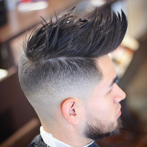 Faux Hawk Fade - Cool Fohawk Haircuts For Men