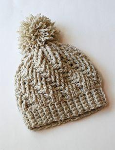 Stepping Texture Hat By Bernat Design Studio - Free Crochet Pattern - (ravelry) chunky yarn