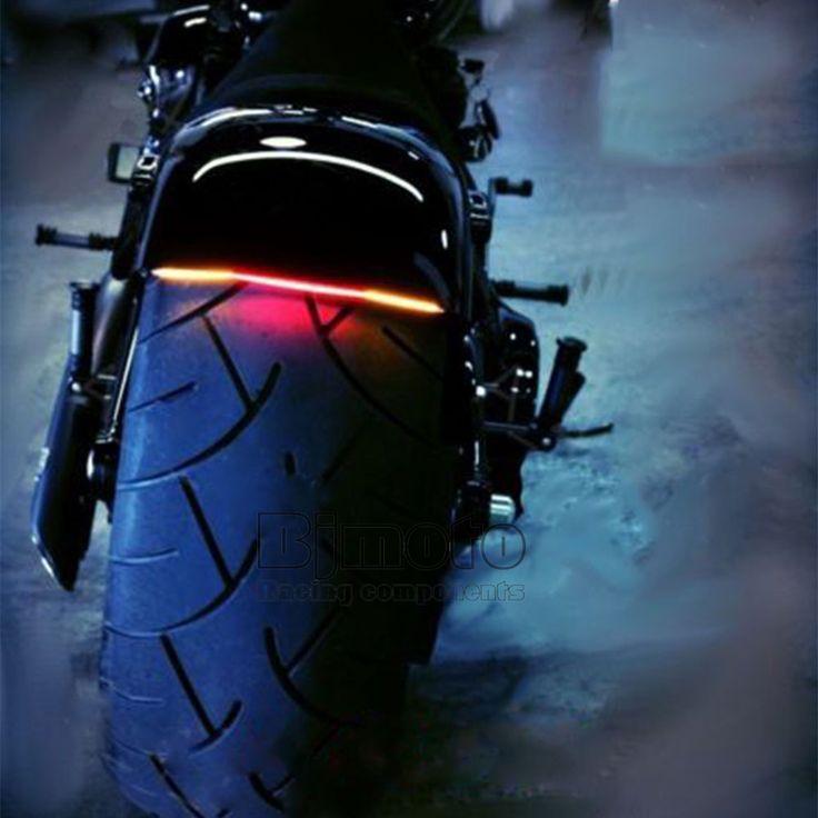 유니버설 오토바이 부드러운 벤드 꼬리 브레이크 정지 신호 통합 3258 붙여 빛 스트립 가와사키 야마하 KTM 스즈키