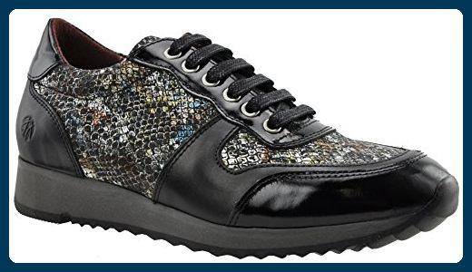 JJ Footwear Damen Schuh Leder Bermuda Normal Schwarz Lak/Street/Batik 37 - Stiefel für frauen (*Partner-Link)