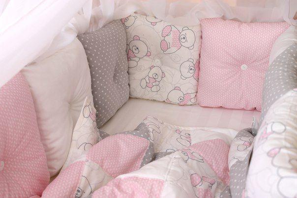 Комплект в кроватку, конверт на выписку, бортики